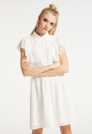 Košilové šaty - weiss