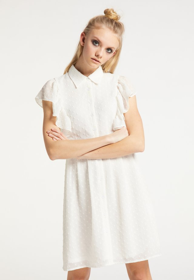 Shirt dress - weiss