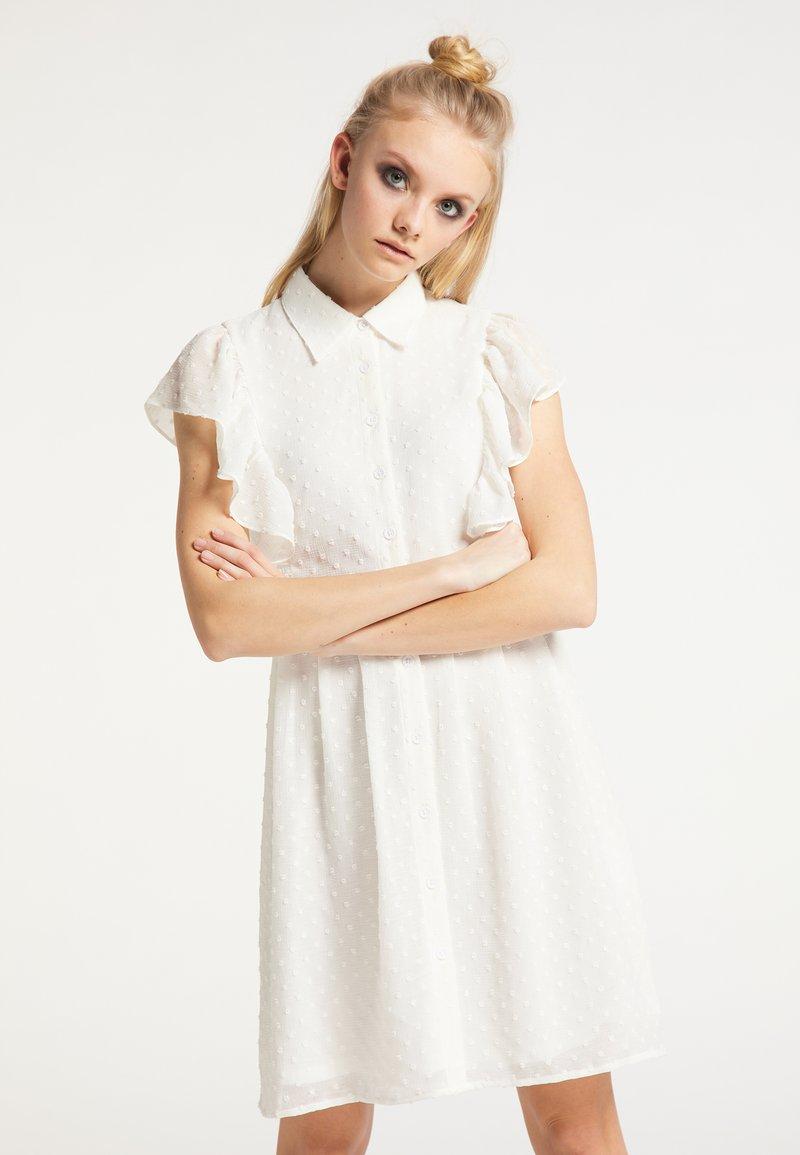 myMo ROCKS - Shirt dress - weiss