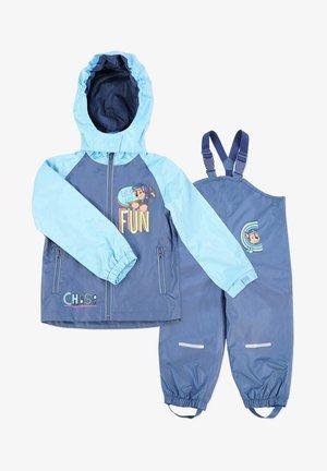 MATSCH UND BUDDELANZUG SET-Waterproof jacket - Regenbroek - marine/blau   marine