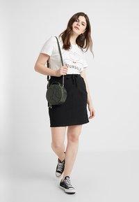 Zizzi - JELENA KNEE SKIRT - Mini skirt - black - 1