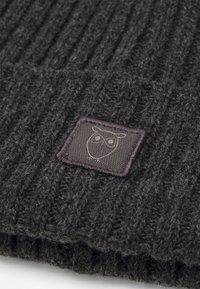Knowledge Cotton Apparel - LEAF BEANIE UNISEX - Beanie - dark grey melange - 2
