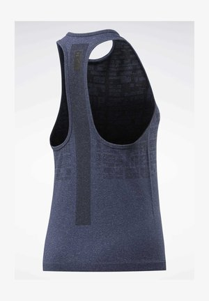 UNITED BY FITNESS MYOKNIT SEAMLESS TANK TOP - Top - blue