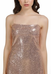 myMo at night - PAILLETTENKLEID - Cocktail dress / Party dress - rosa gold - 3