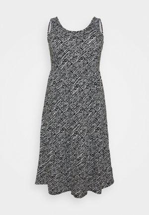 TIERED VEST DRESS - Jersey dress - mono