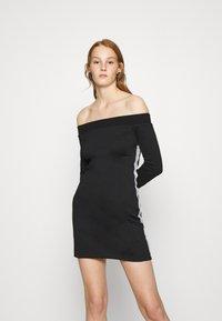 Calvin Klein Jeans - OFF THE SHOULDER MILANO DRESS - Shift dress - black - 0