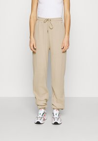 Nly by Nelly - STRUCTURED  - Tracksuit bottoms - beige - 0