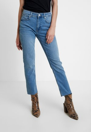 LUNA CROP - Jeans Straight Leg - light blue