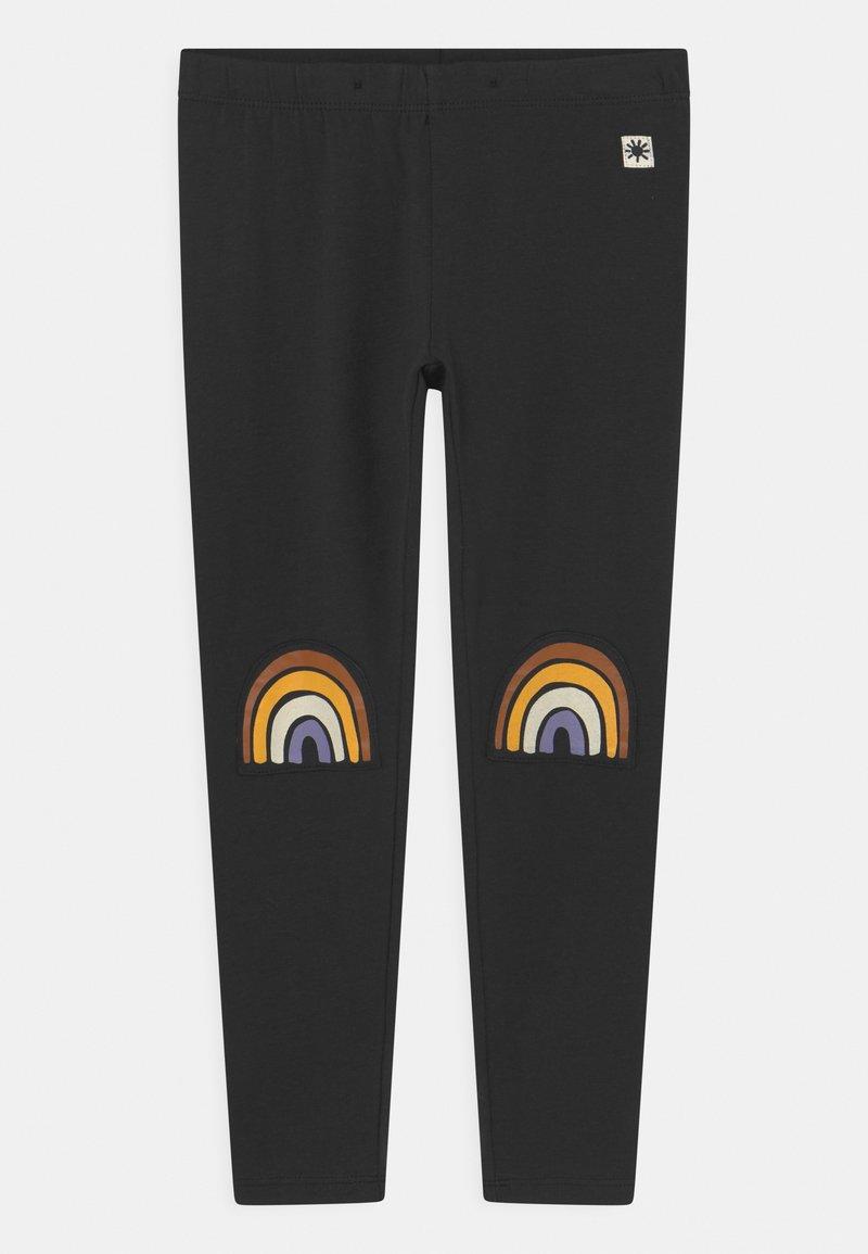 Lindex - MINI RAINBOW UNISEX - Leggings - Trousers - off black