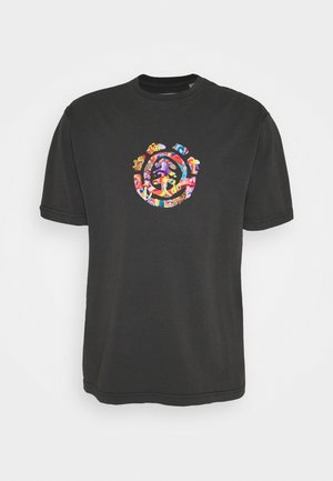 SHROOMS TREE - T-shirt imprimé - off black