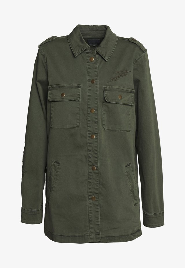 ALBA JACKET - Giacca di jeans - olive night