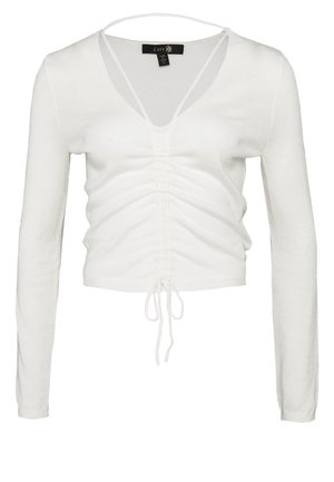 DYNAMITE RUCHED  - Pullover - cream