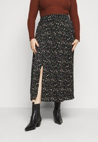 Glamorous Curve - SMUDGE SKIRT - A-line skirt - black smudge print new - 0