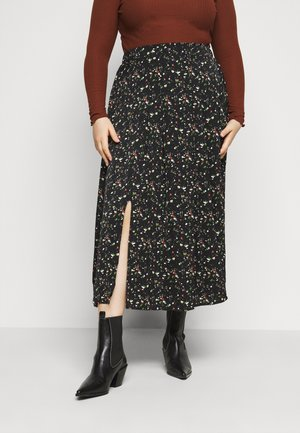 SMUDGE SKIRT - A-line skirt - black smudge print new