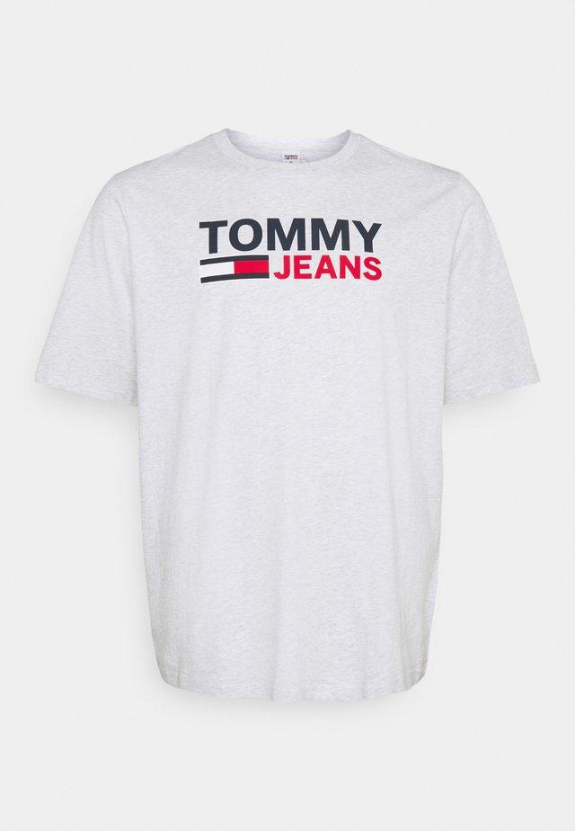 CORP LOGO TEE - T-shirts med print - silver grey