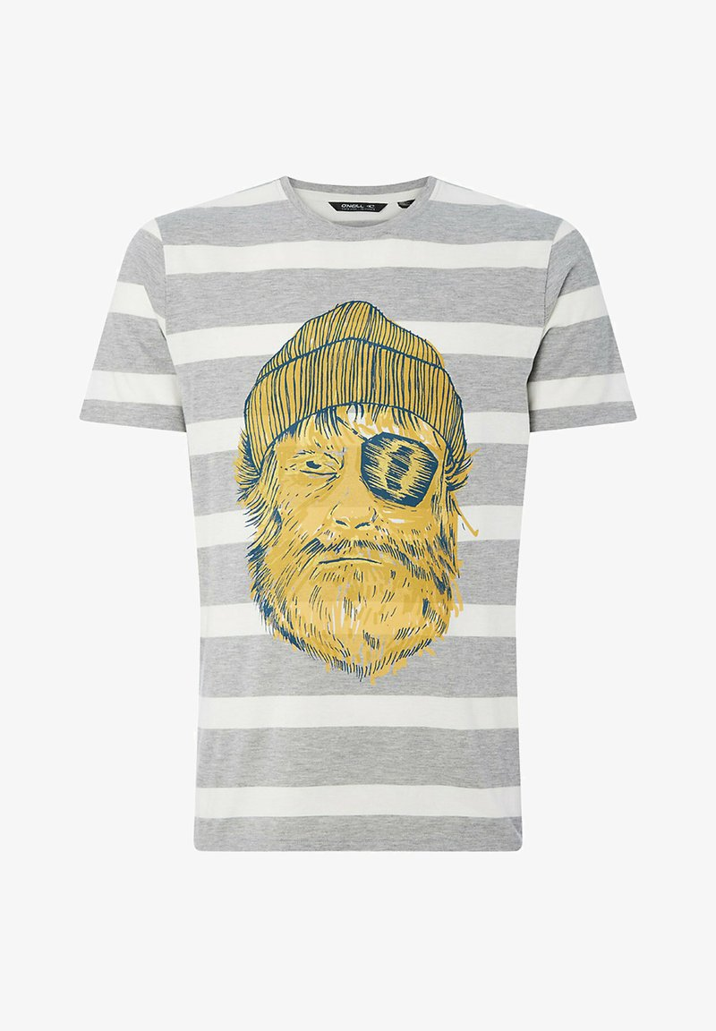 O'Neill - Print T-shirt - silver melee