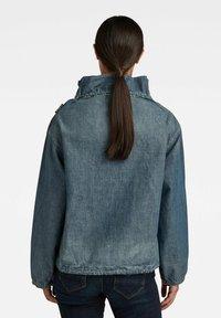 G-Star - LONG SLEEVE MOCK NECK  - Summer jacket - antic faded aegean blue painted - 1