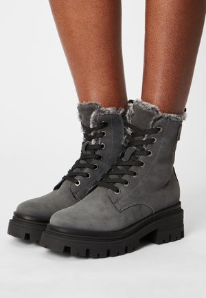 Lace-up ankle boots - anthracite