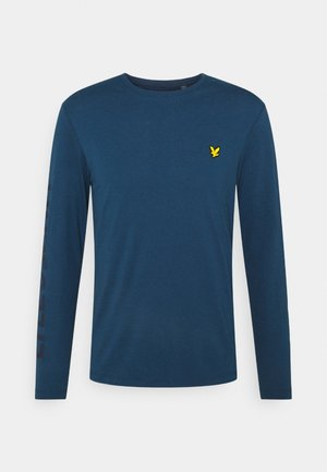 BASELAYER WITH SLEEVE LOGO - Long sleeved top - aegean blue