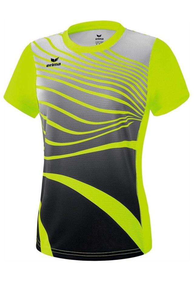 T-SHIRT DAMEN - Print T-shirt - neon gelb / schwarz