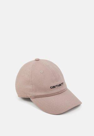 SCRIPT UNISEX - Czapka z daszkiem - earthy pink/black