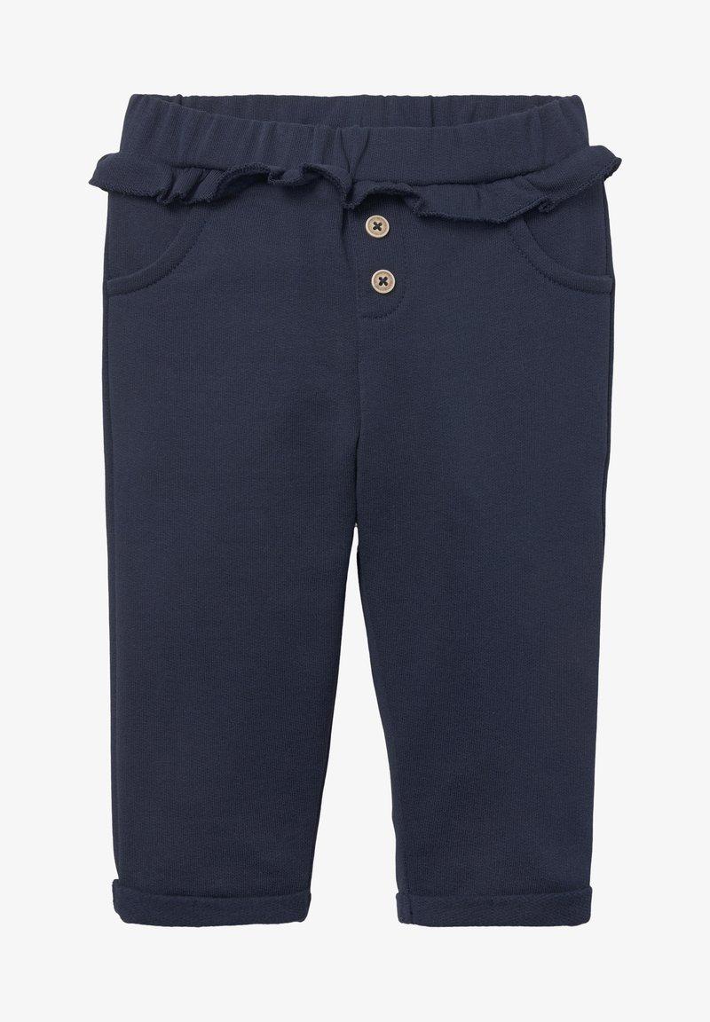 TOM TAILOR - MIT GERÜSCHTEM BUND - Legging - black iris/blue