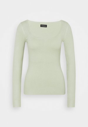 SQUARE NECK - Pullover - light green