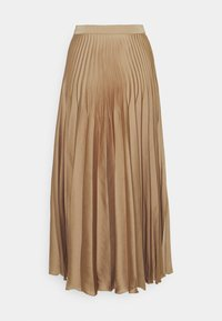 Selected Femme Tall - SLFHARMONY PLEATED SKIRT - A-line skirt - tigers eye - 1