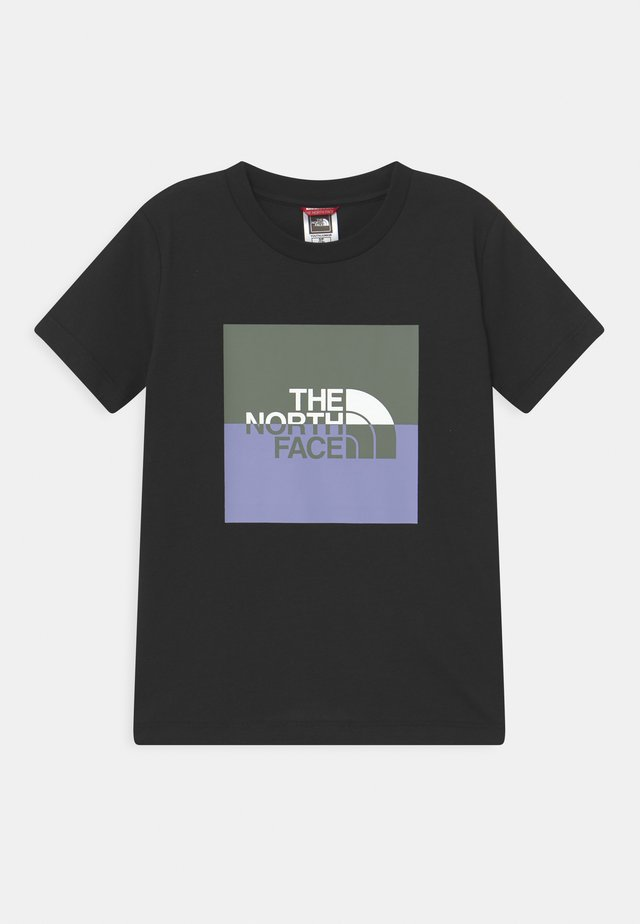 YOUTH HALF DOME UNISEX - T-shirt con stampa - black/white/agave green/sweet lavender