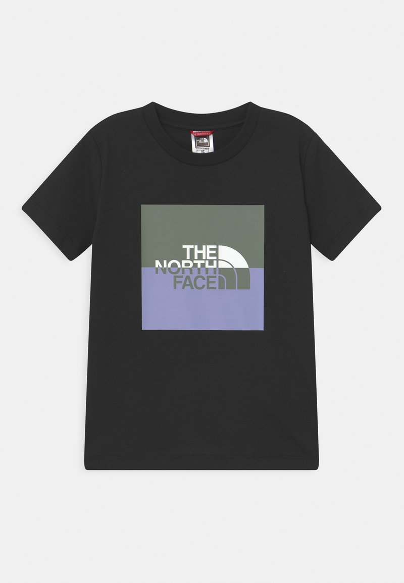 The North Face - YOUTH HALF DOME UNISEX - Print T-shirt - black/white/agave green/sweet lavender
