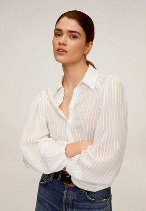 ADRIANA - Button-down blouse - cremeweiß