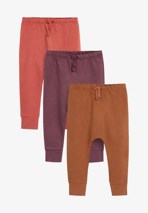 3 PACK  - Trousers - brown