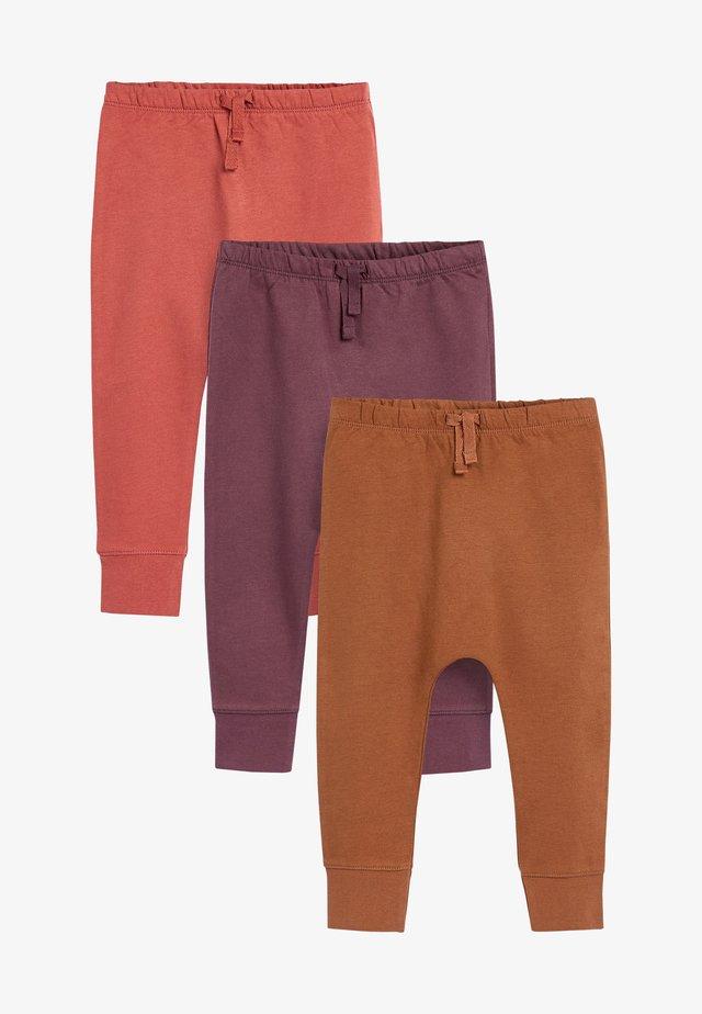 3 PACK  - Pantaloni - brown