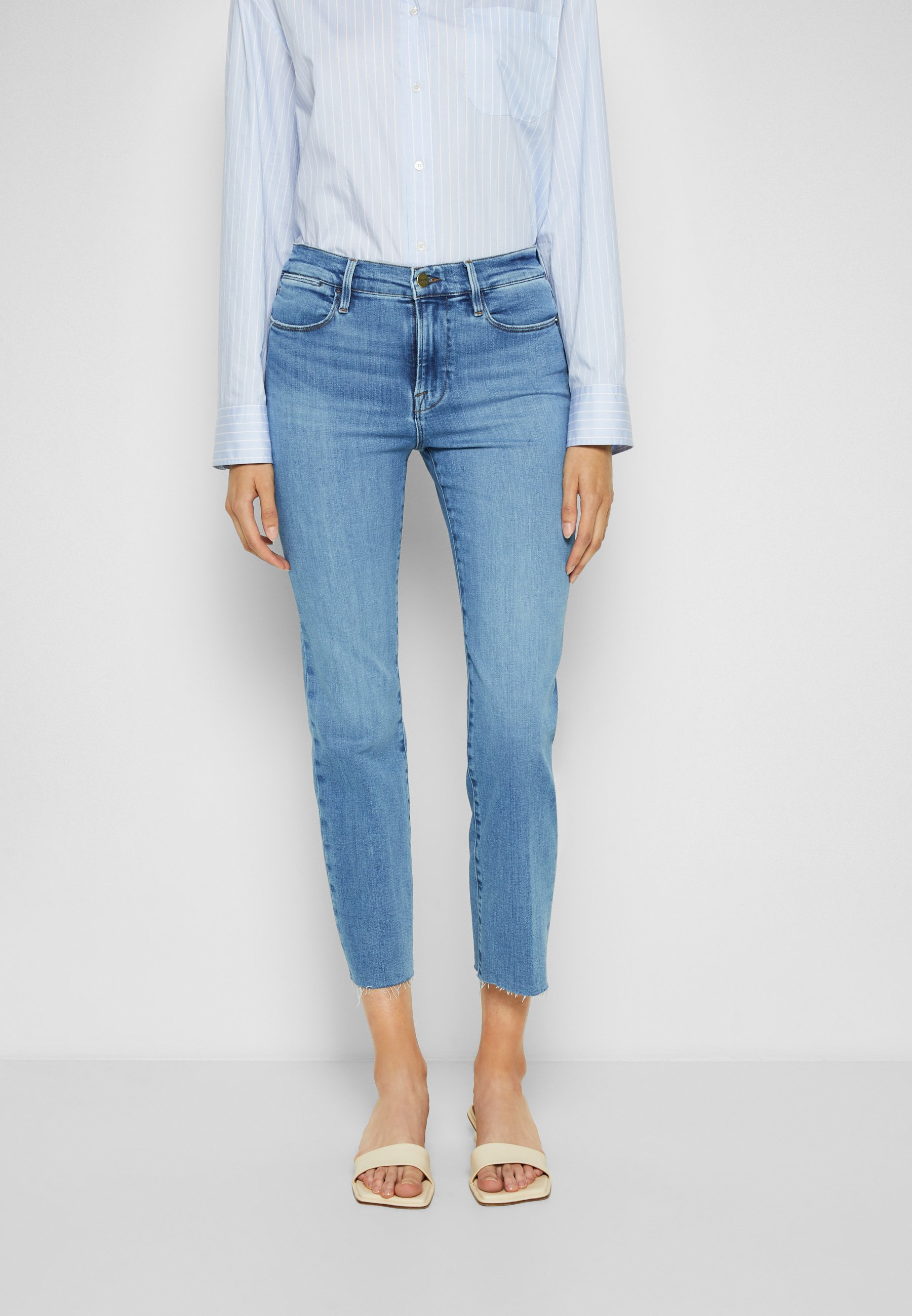 Women LE HIGH STRAIGHT RAW AFTER - Straight leg jeans