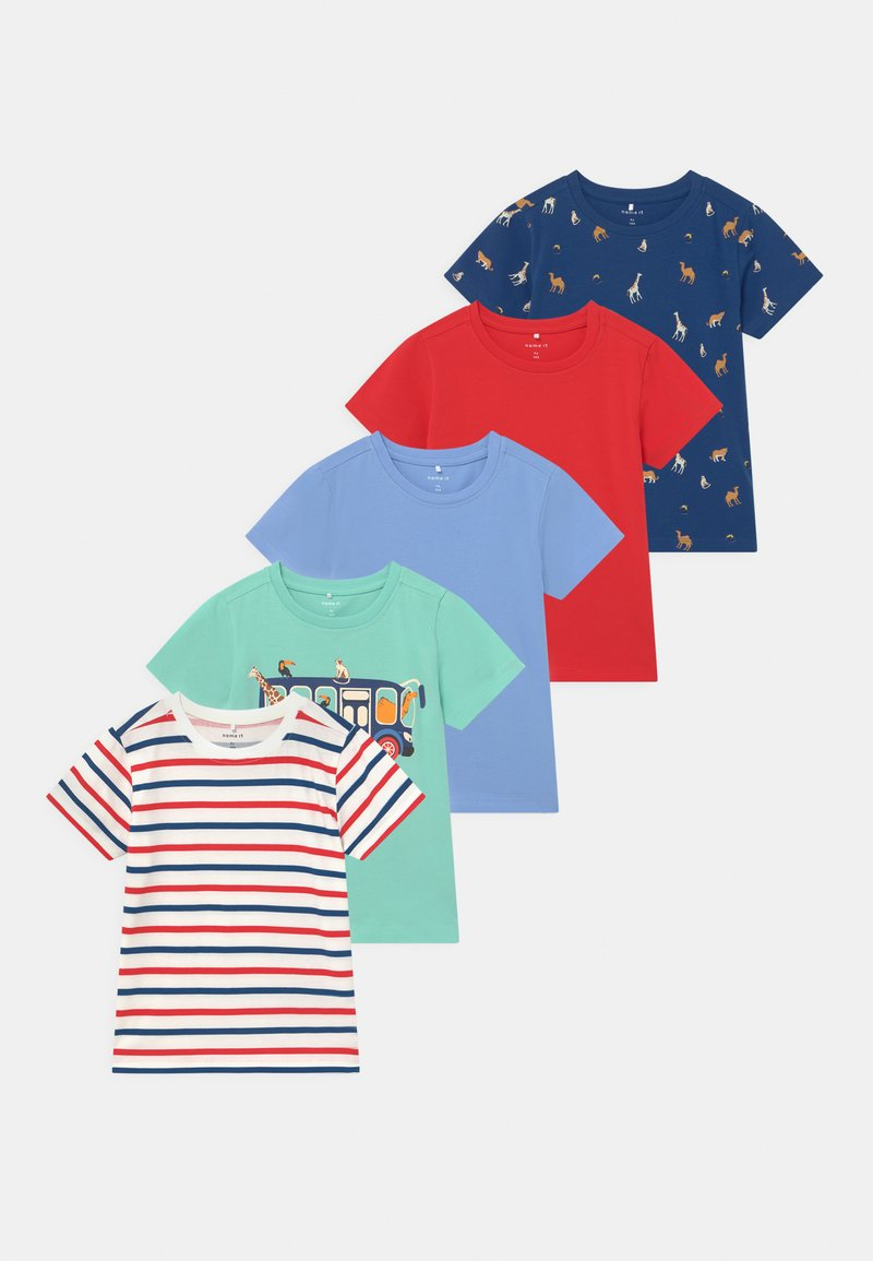 Name it - BOYS 5 PACK - Print T-shirt - navy peony