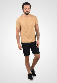 Solid - Denim shorts - black dnm - 1