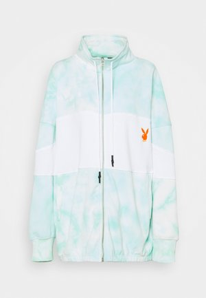 PLAYBOY TIE DYE ZIP THROUGH - Bluza rozpinana - mint