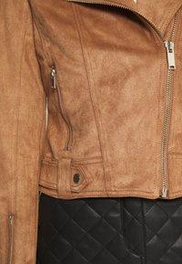 Miss Selfridge - BIKER - Faux leather jacket - tan - 5