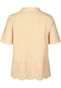 Zizzi - Button-down blouse - beige - 5