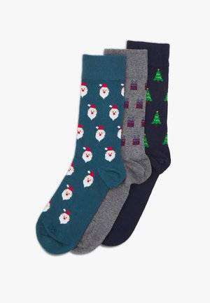3 PACK - Socks - mottled grey/teal/dark blue