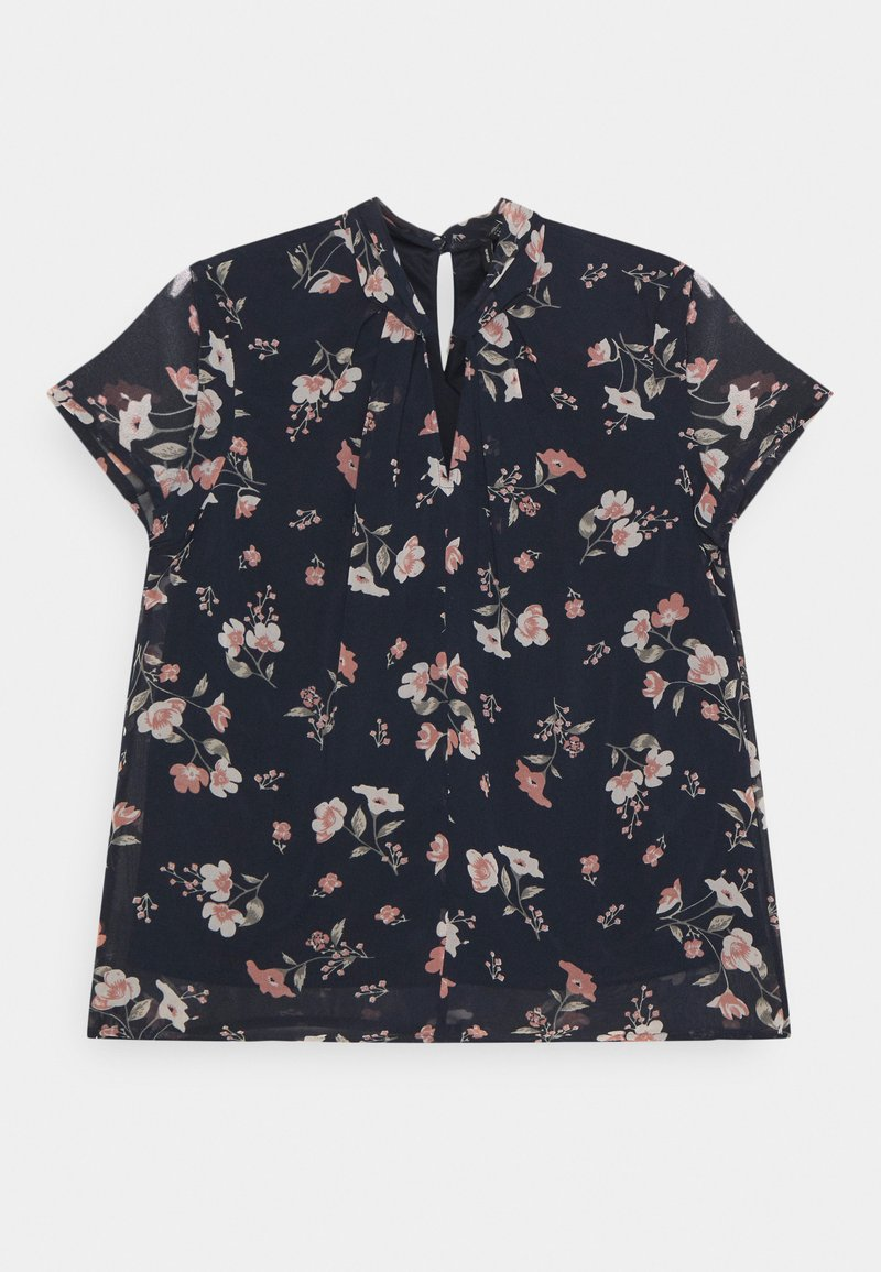 Vero Moda - VMZALLIE  - Print T-shirt - navy blazer/zallie