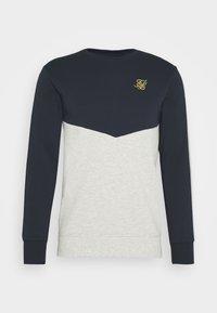 SIKSILK - CUT AND SEW CREW - Sweatshirt - navy/snow marl - 3