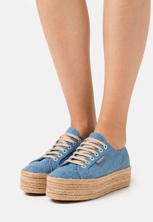 2790 - Loafers - mid blue/natural