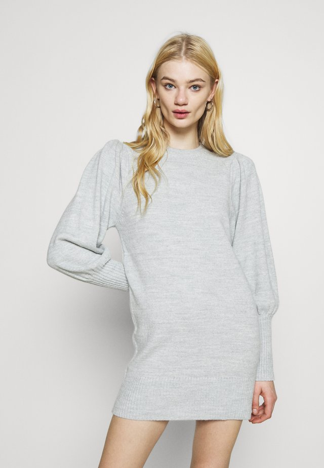 JUMPER DRESS - Sukienka dzianinowa - grey
