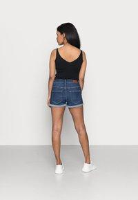 ONLY Petite - ONLHUSH BUTTON PETIT - Denim shorts - dark blue denim - 2