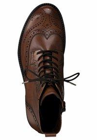 Tamaris - Lace-up ankle boots - cognac - 1