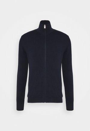 SLHBERG FULL ZIP CARDIGAN - Kardigan - navy blazer