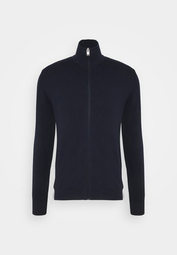 SLHBERG FULL ZIP CARDIGAN - Kofta - navy blazer