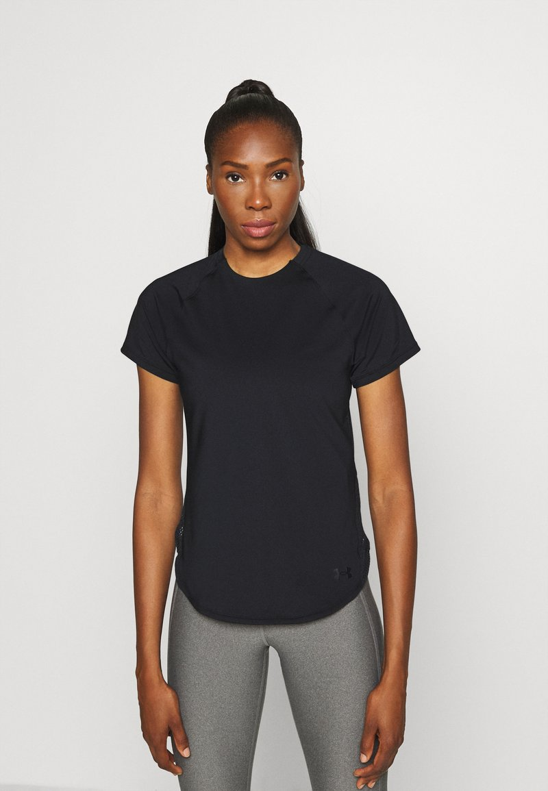 Under Armour - SPORT HI LO  - T-shirt basic - black