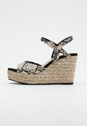 High heeled sandals - black/white